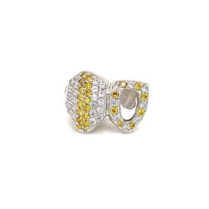 Double Teeth on Yellow and White Diamonds